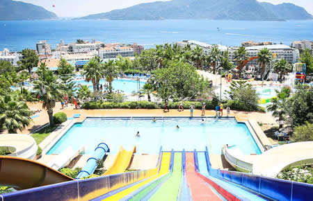 A view from Marmaris Aqua Dream Water Park